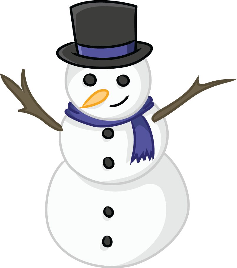 This cute snowman clip art is licensed under the Creative.