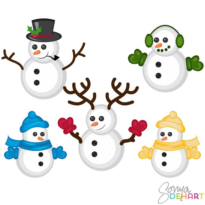 Free Cute Snowman Clipart, Download Free Clip Art, Free Clip.