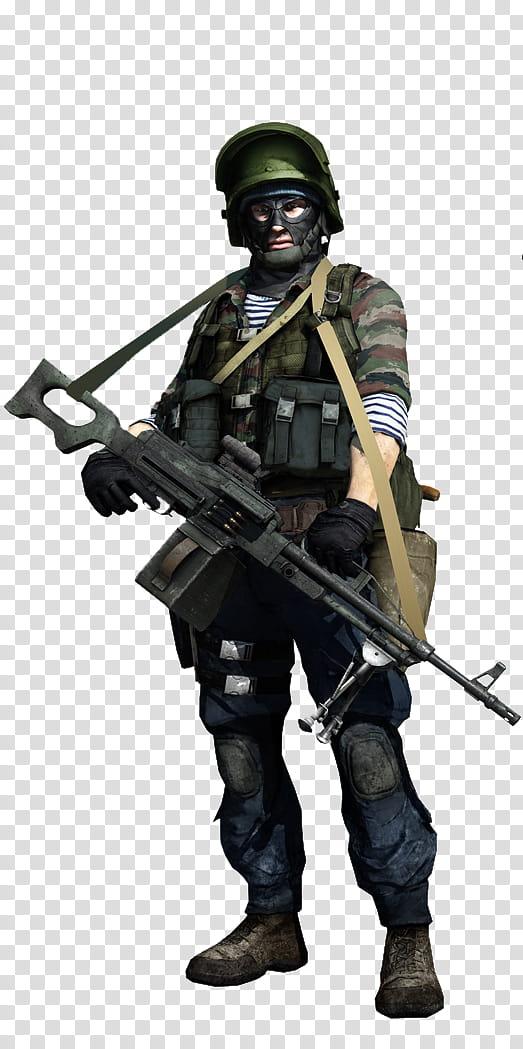 Battlefield Soldiers rendered, male soldier illustration.