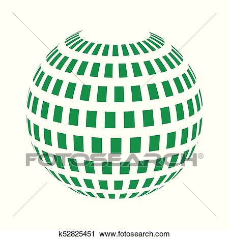 Vector spheres. Abstract technical illustration. 3 D object.