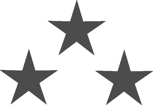 Tri Star Clipart.