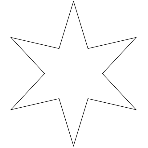Six Pointed Star coloring page.
