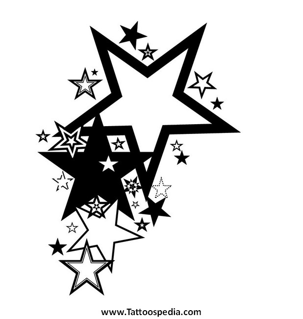 3 stars tattoos designs 5.