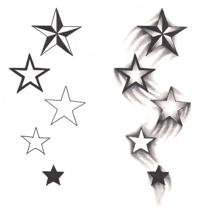 76+ Beautiful Star Tattoos And Meaningful Ideas.