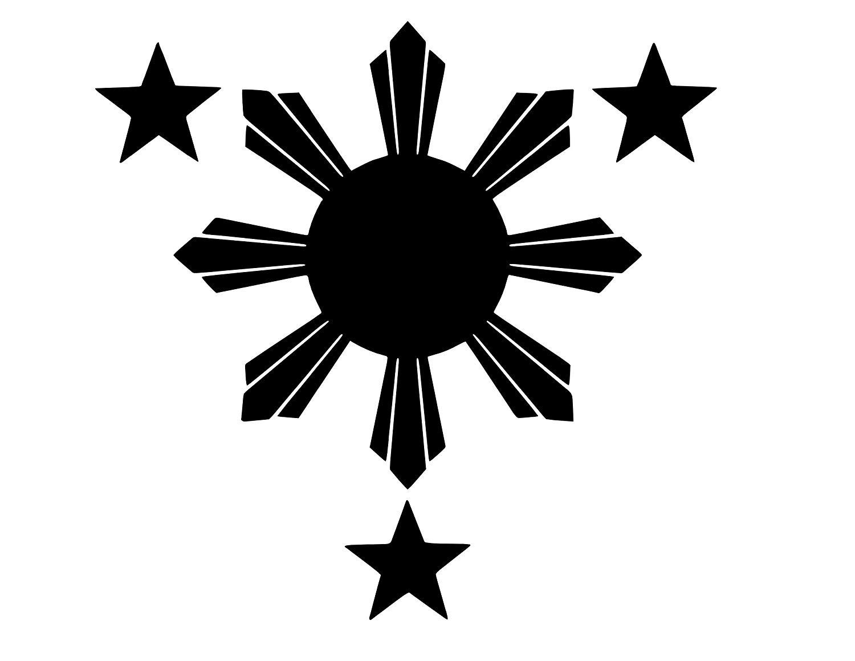 LeoPro Philippines Flag 1 Sun and 3 Stars Logo Vinyl Sticker Decal.