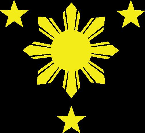 Tambay Arts: 3 Stars and A Sun High Resolution Vector File.