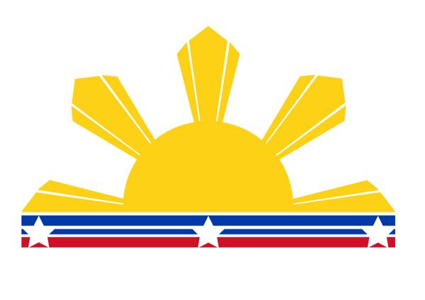 Three Stars And A Sun Logo.