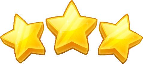 3 Stars Clipart.
