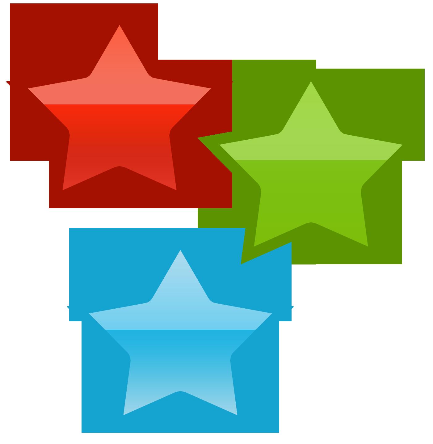 Three Stars Clipart & Free Clip Art Images #4001.
