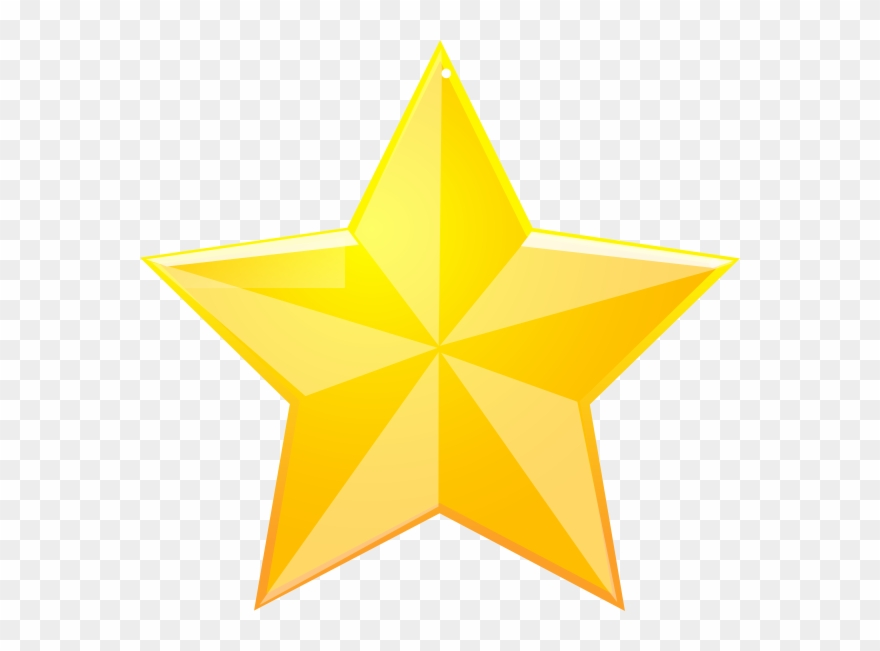 Shaded Yellow Star Clip Art.