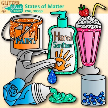 States of Matter Clip Art: Solids, Liquids, and Gases {Glitter Meets Glue}.