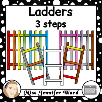 3 Step Ladder Clipart.