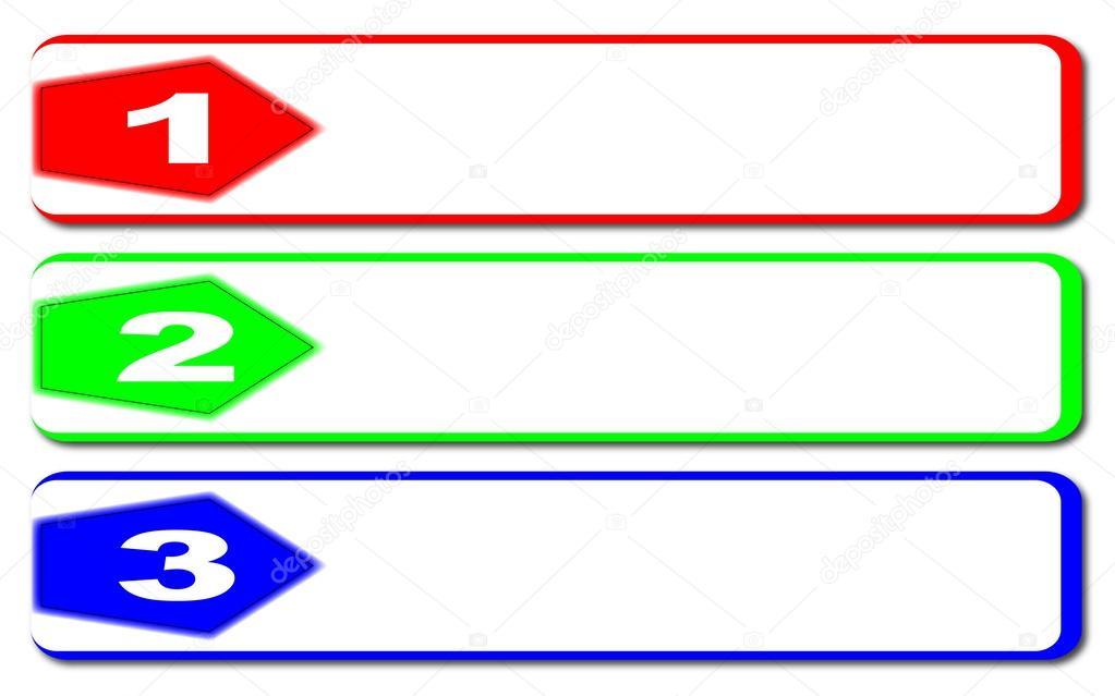 3 Steps Banner — Stock Vector © BigAlBaloo #54338355.