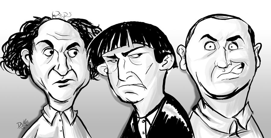 Three Stooges Sketch at PaintingValley.com.