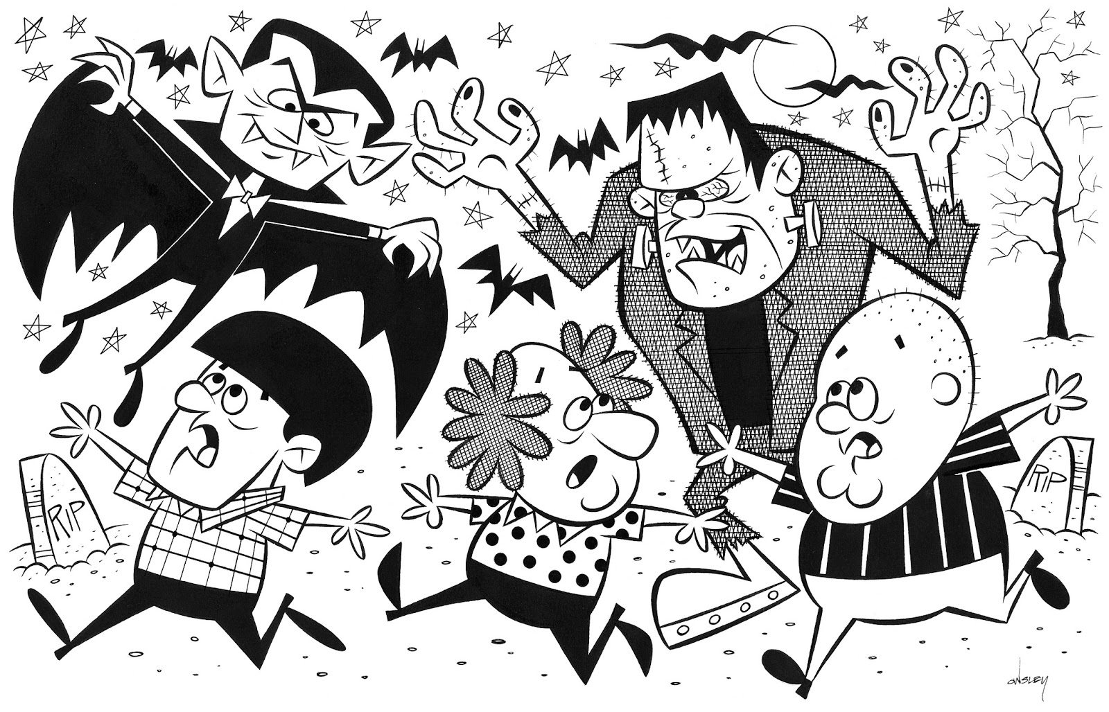 Patrick Owsley Cartoon Art and More!: THE THREE STOOGES MEET THE.