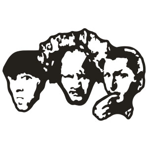 Three Stooges Decal Sticker.