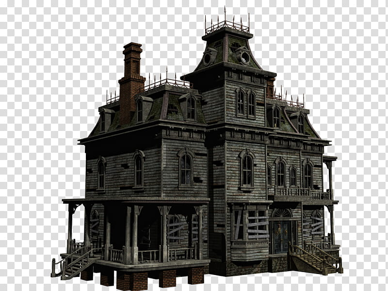 Haunted House , gray.