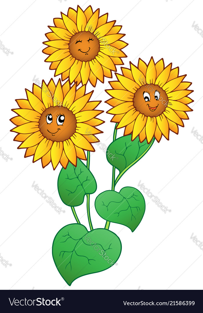 Three cute sunflowers.