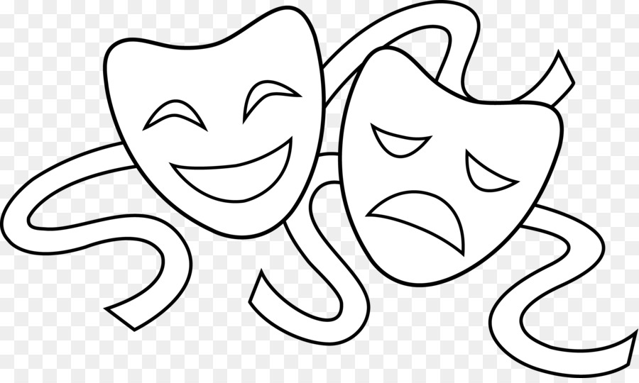 Theatre mask clipart 3 » Clipart Station.