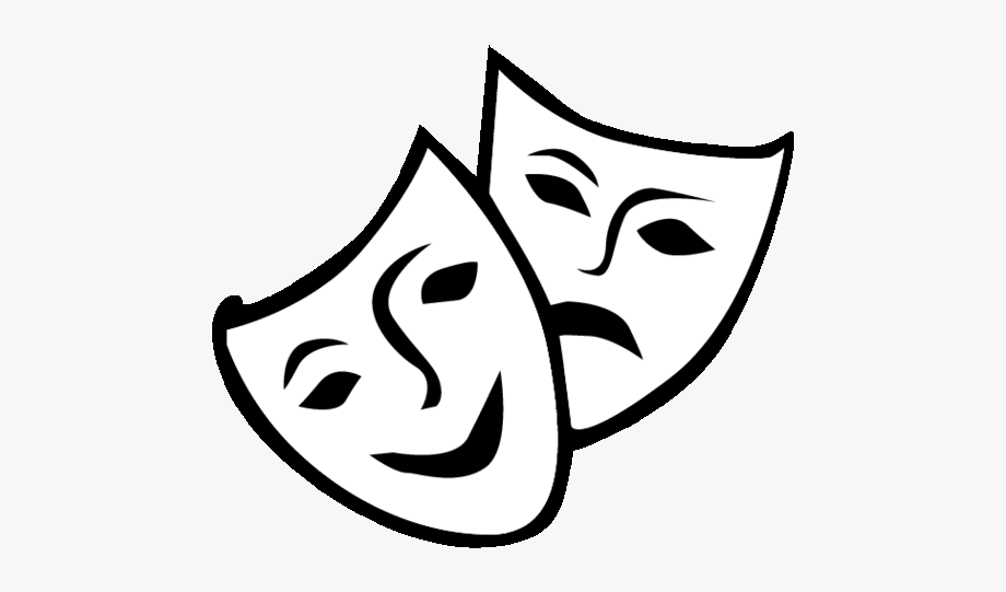 Theatre Drama Mask Comedy Clip Art.