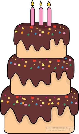 Three Tier Cake Clipart.