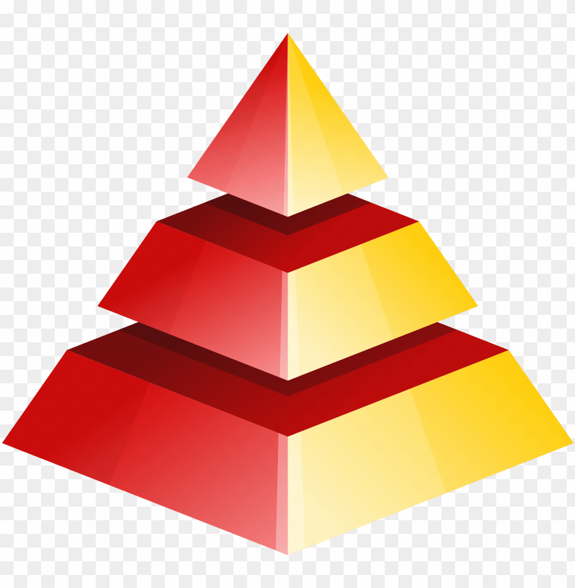3d pyramid clipart.