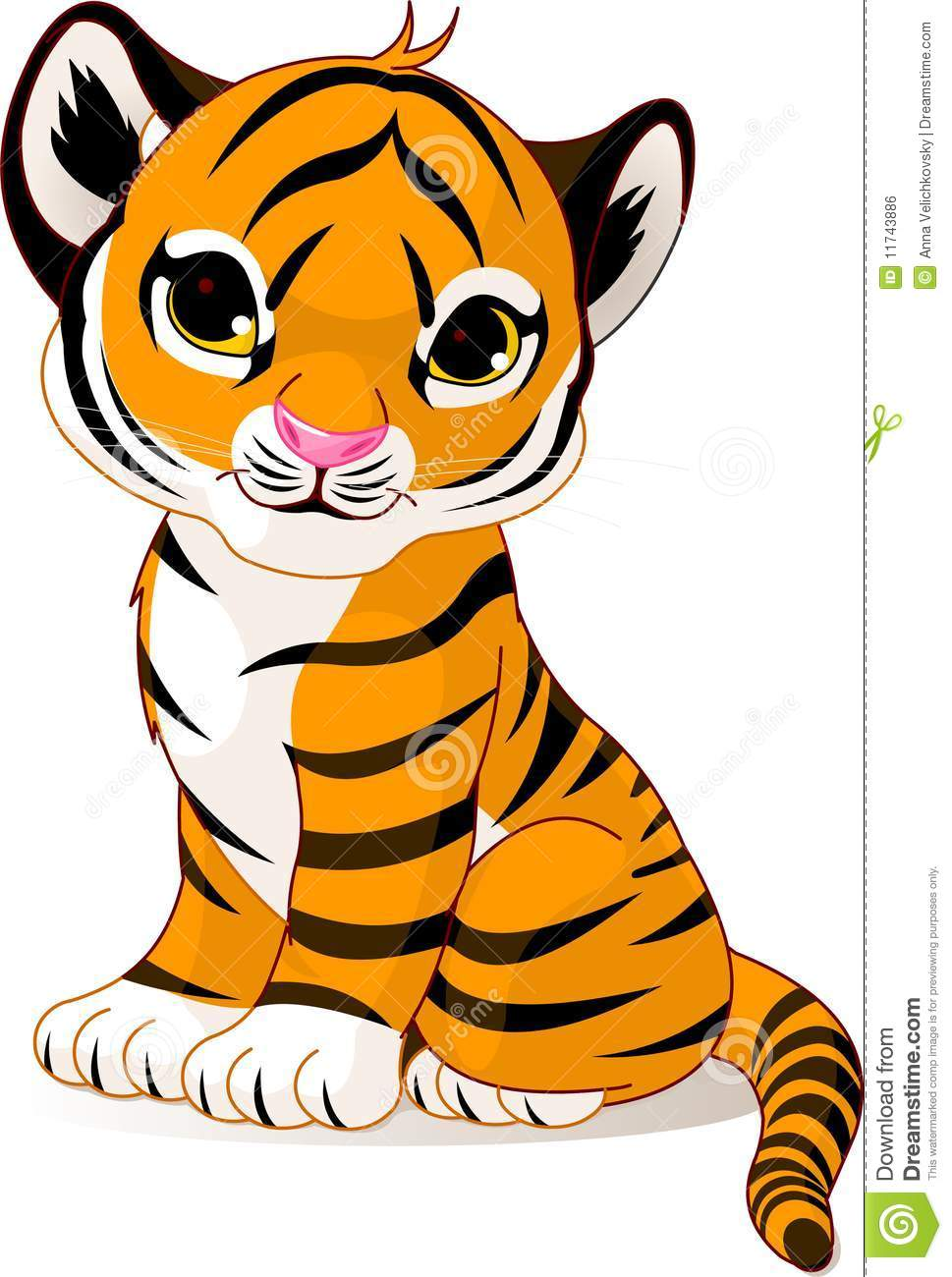 Cute tiger clipart 3 » Clipart Station.