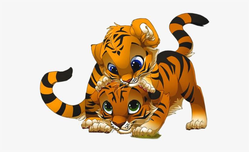 Banner Royalty Free Baby Tiger Clipart.