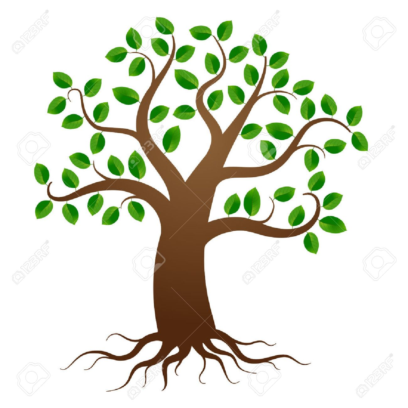 Tree Trunk With Roots Clipart.