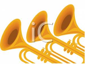 3 trumpets clipart clipart images gallery for free download.