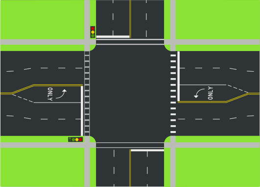 Intersection Road Clipart.