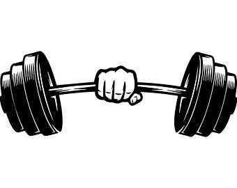 726 Barbell free clipart.