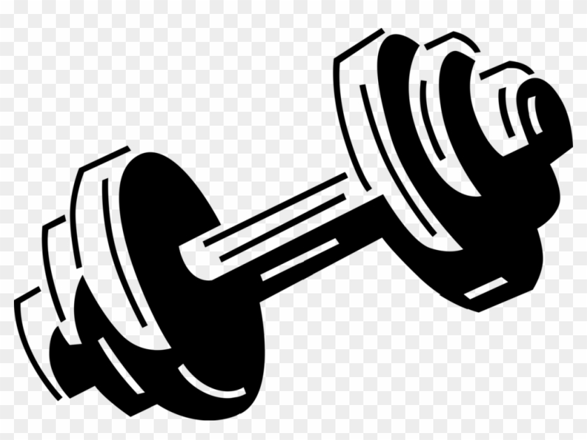 Bodybuilding And Dumbbells Vector Image Illustration.