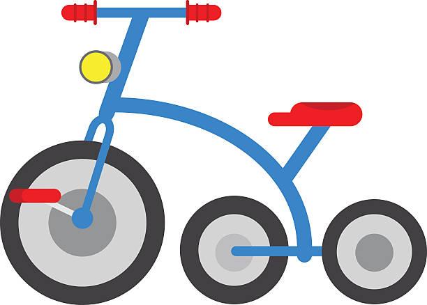 Children Bicycle 3 Wheel Illustrations, Royalty.