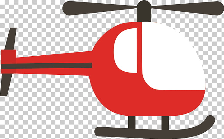 Airplane Helicopter rotor Propeller, Cartoon airplane PNG.