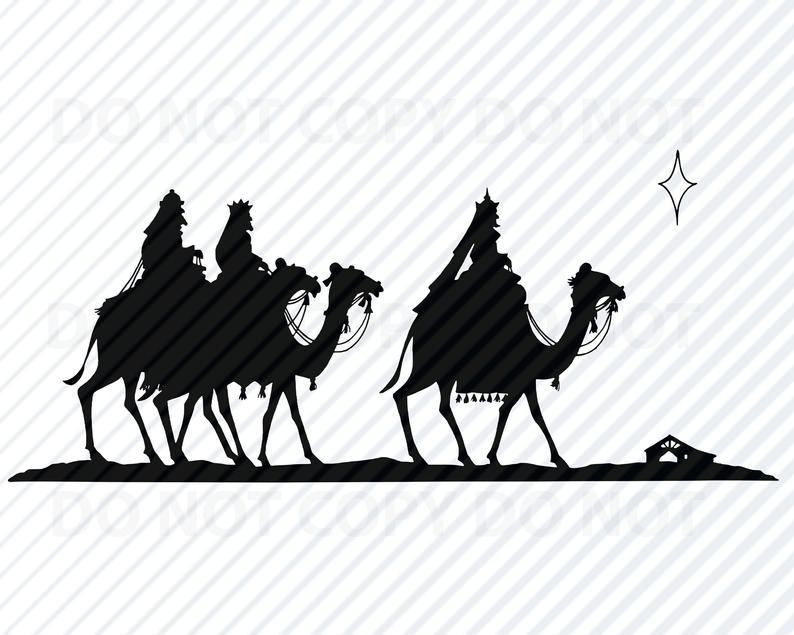 Christmas Nativity SVG Silhouette.