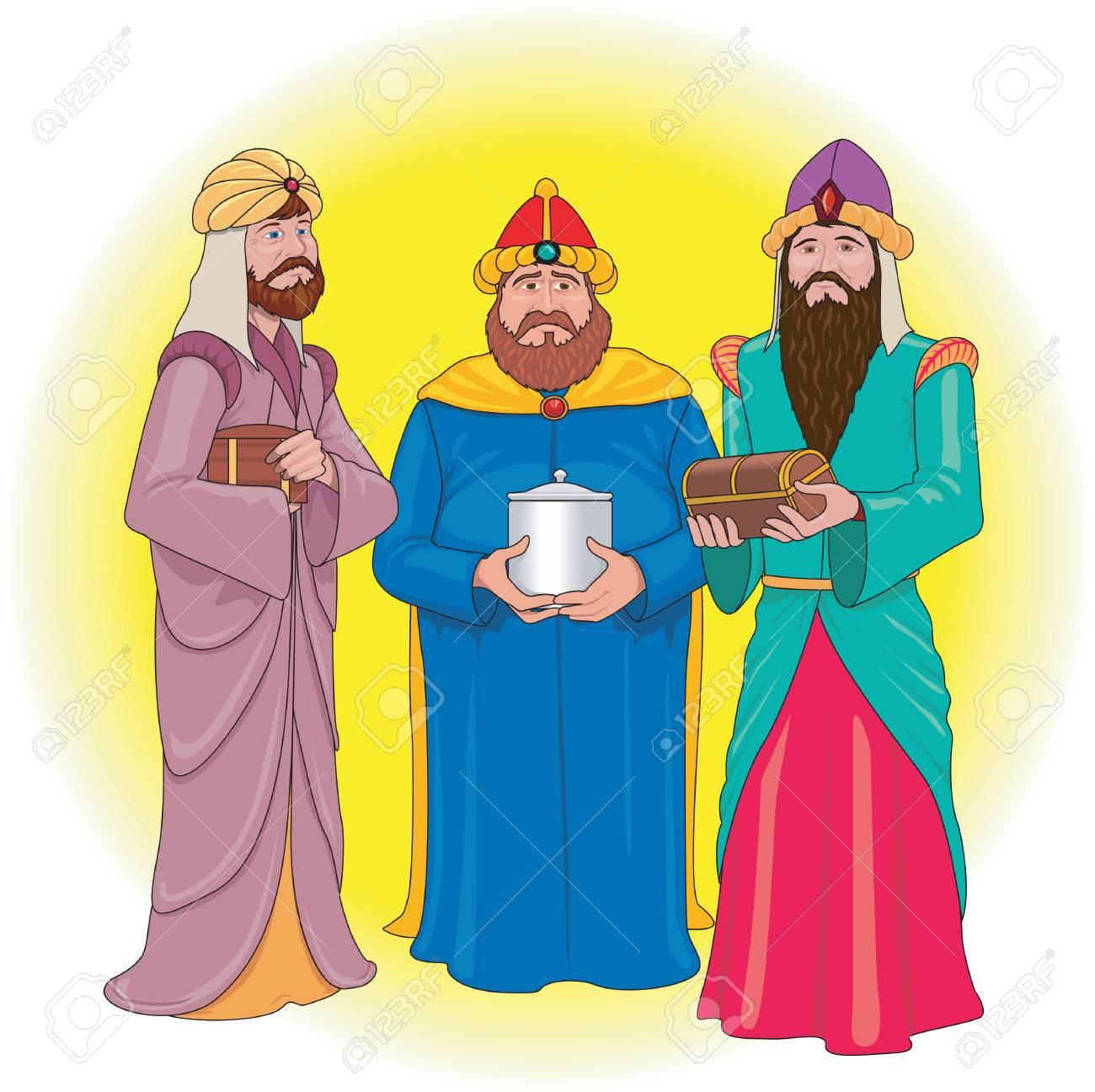 Three Wise Men Illustration.
