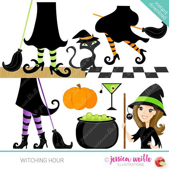Witching Hour clipart set comes with 10 graphics including 3.