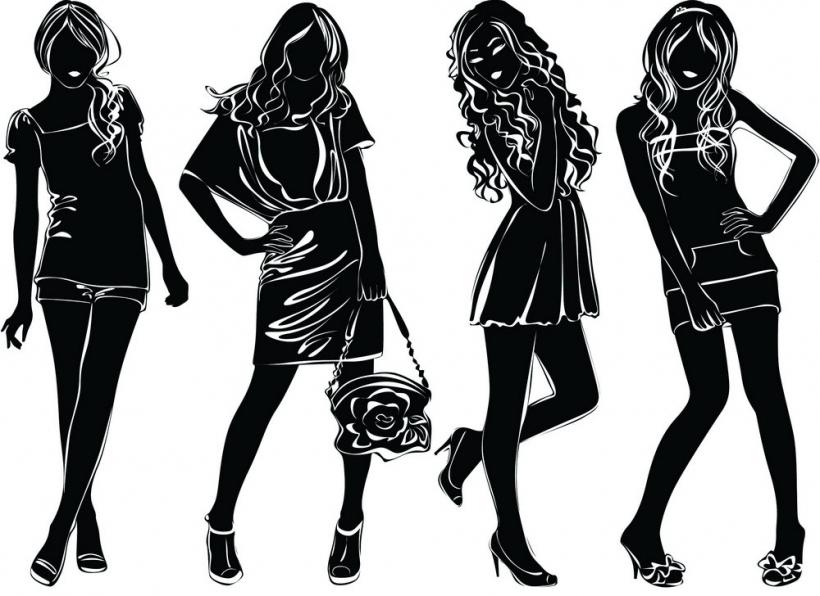 Women silhouette clipart part 3 black clip creativegraphics7.