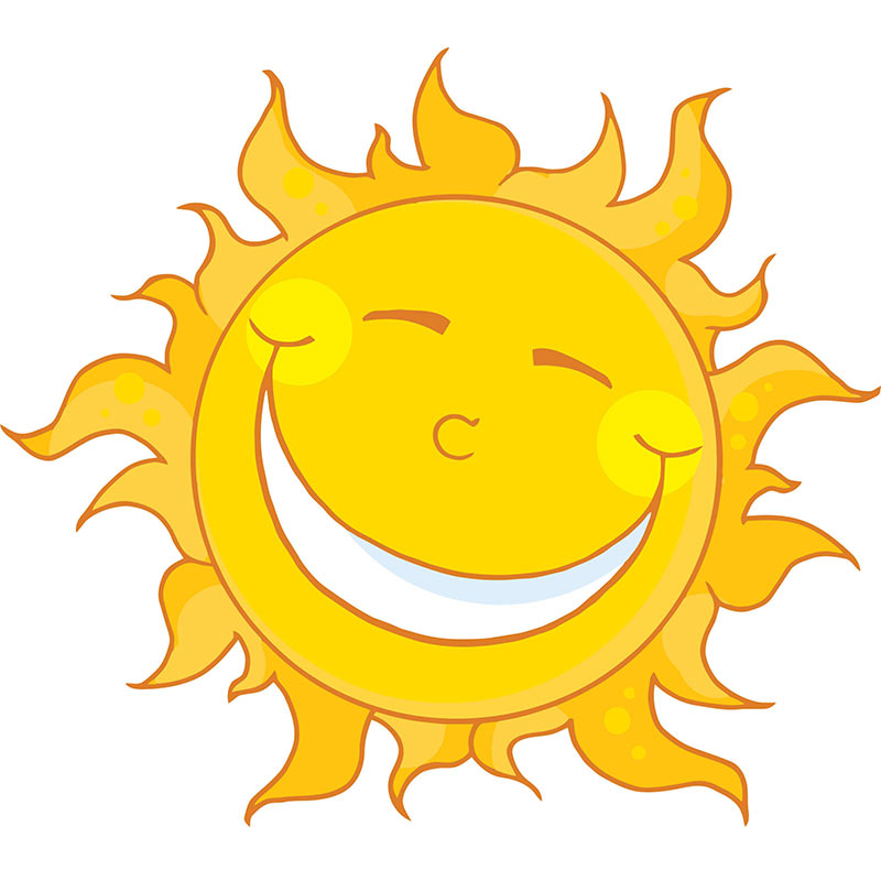 Clipart of a sun graphics.