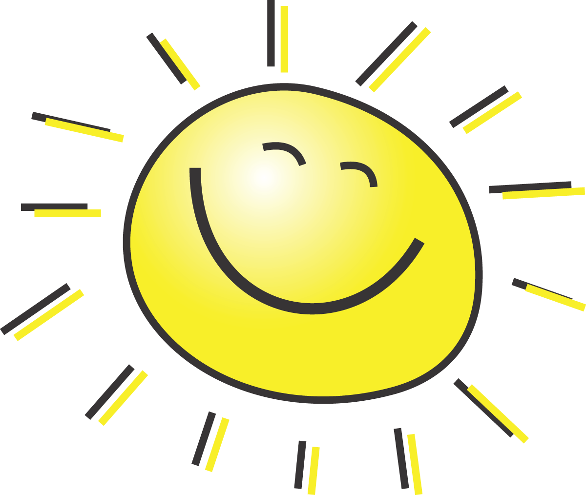 Free Summer Clipart Illustration Of A Happy Smiling Sun.