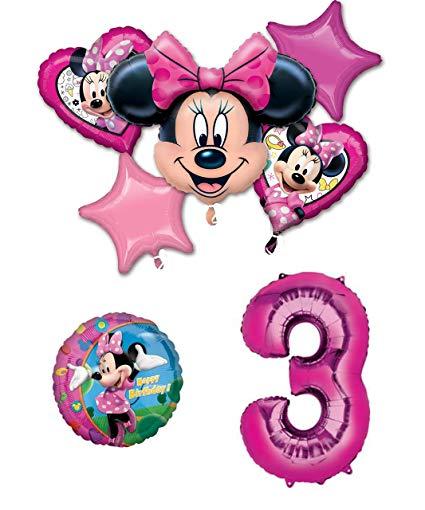Amazon.com: Minnie Mouse 3rd Birthday Party Balloon.