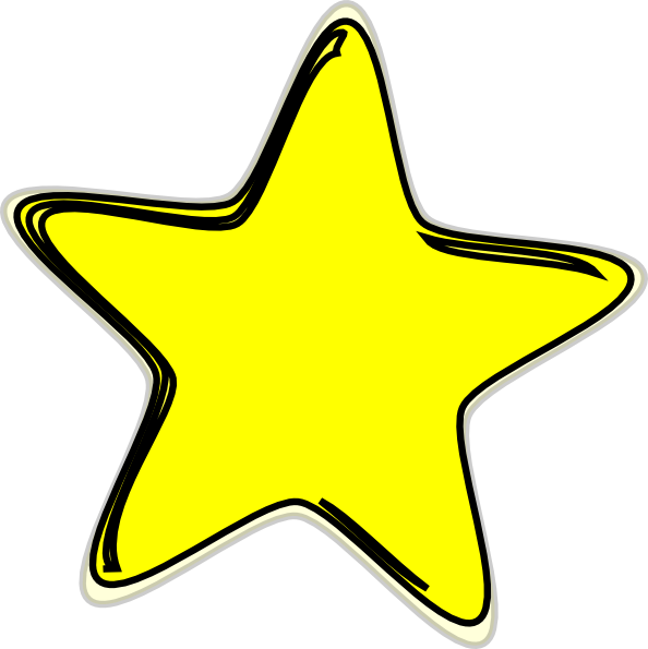 Yellow star clipart 3 » Clipart Station.