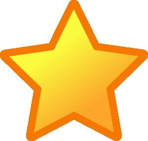 Clip Art Yellow Star 3 Clipart.