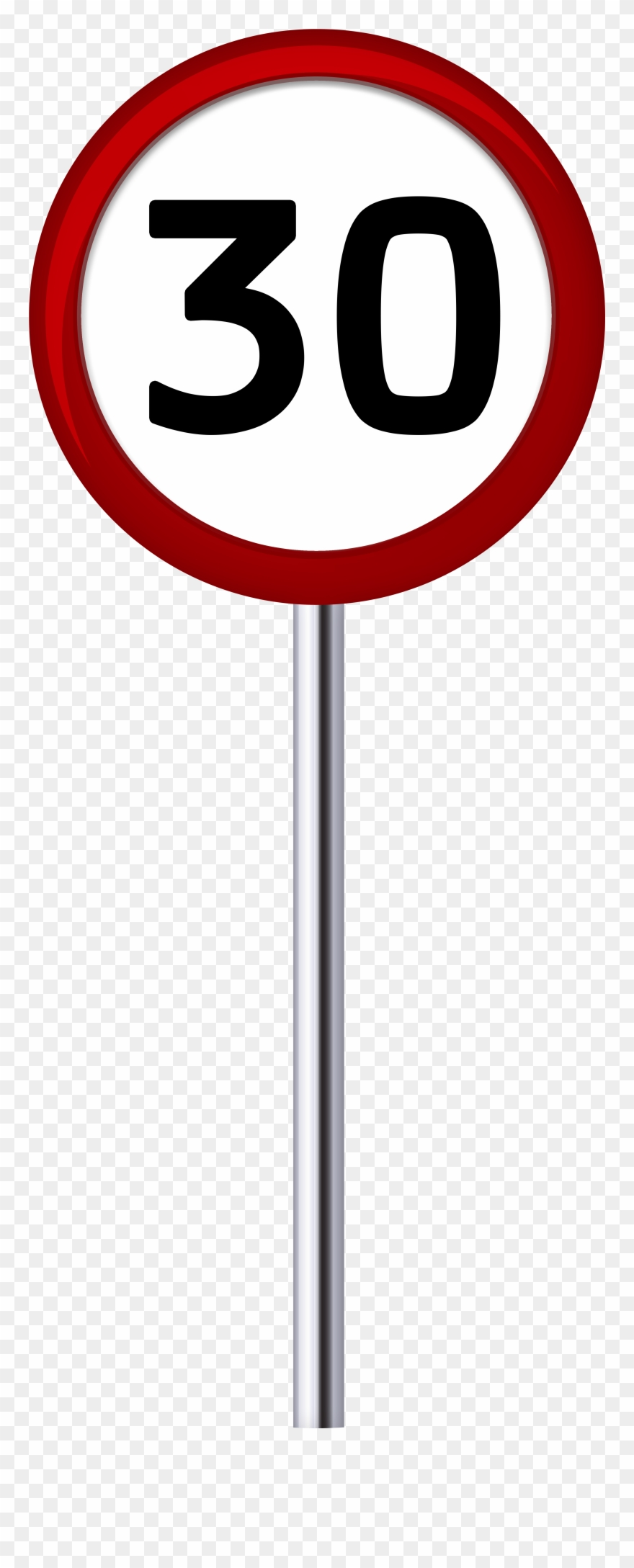 Traffic Sign Speed Limit 30 Png Clip Art.