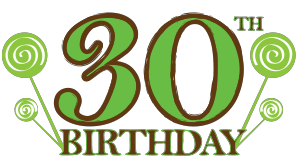 30 Birthday Clipart.
