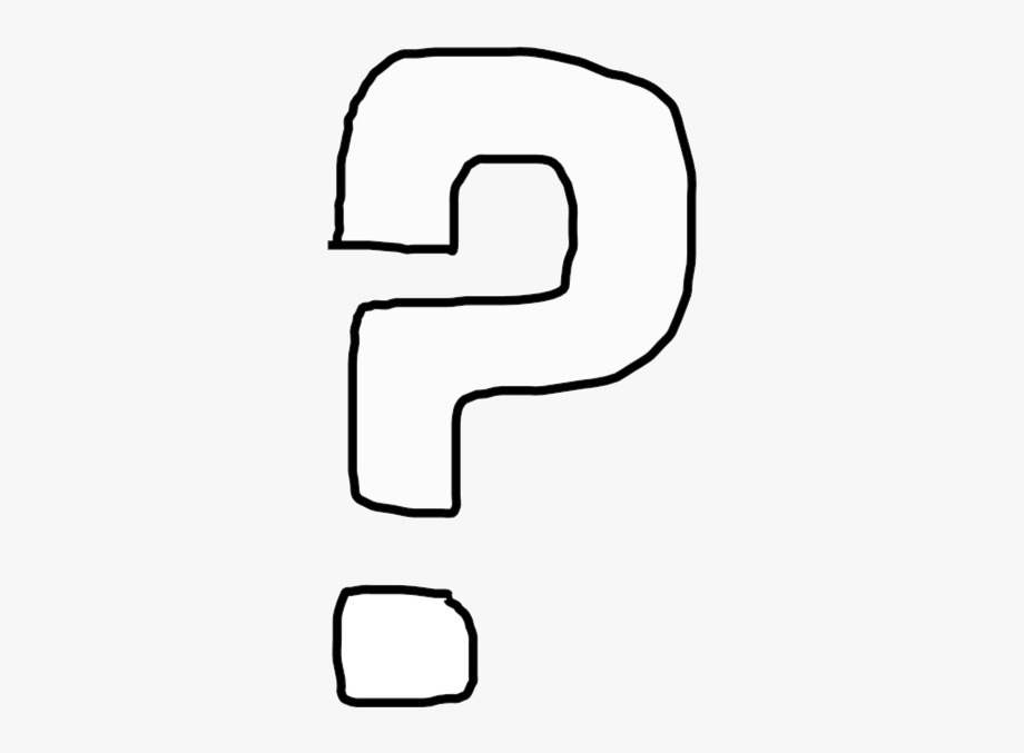 Question Mark Clip Art Black And White Marks Transparent.