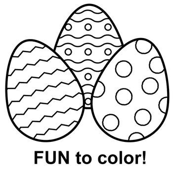 Easter Clip Art: 30 black and white Easter egg clipart.