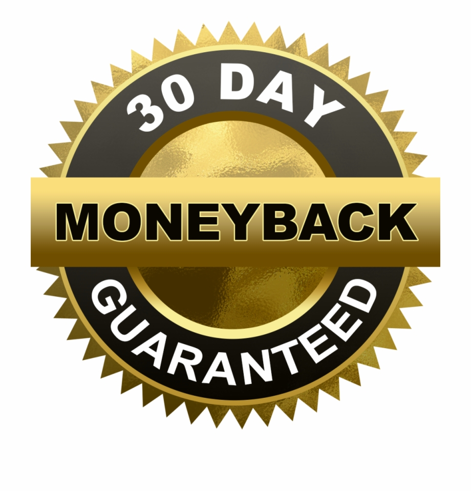 30 Day Money Back Guarantee Cut Out.