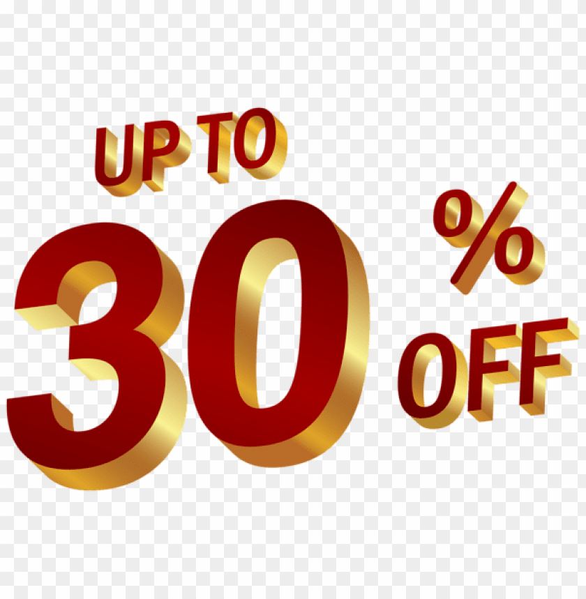 Download 30 percent discount clipart png photo.
